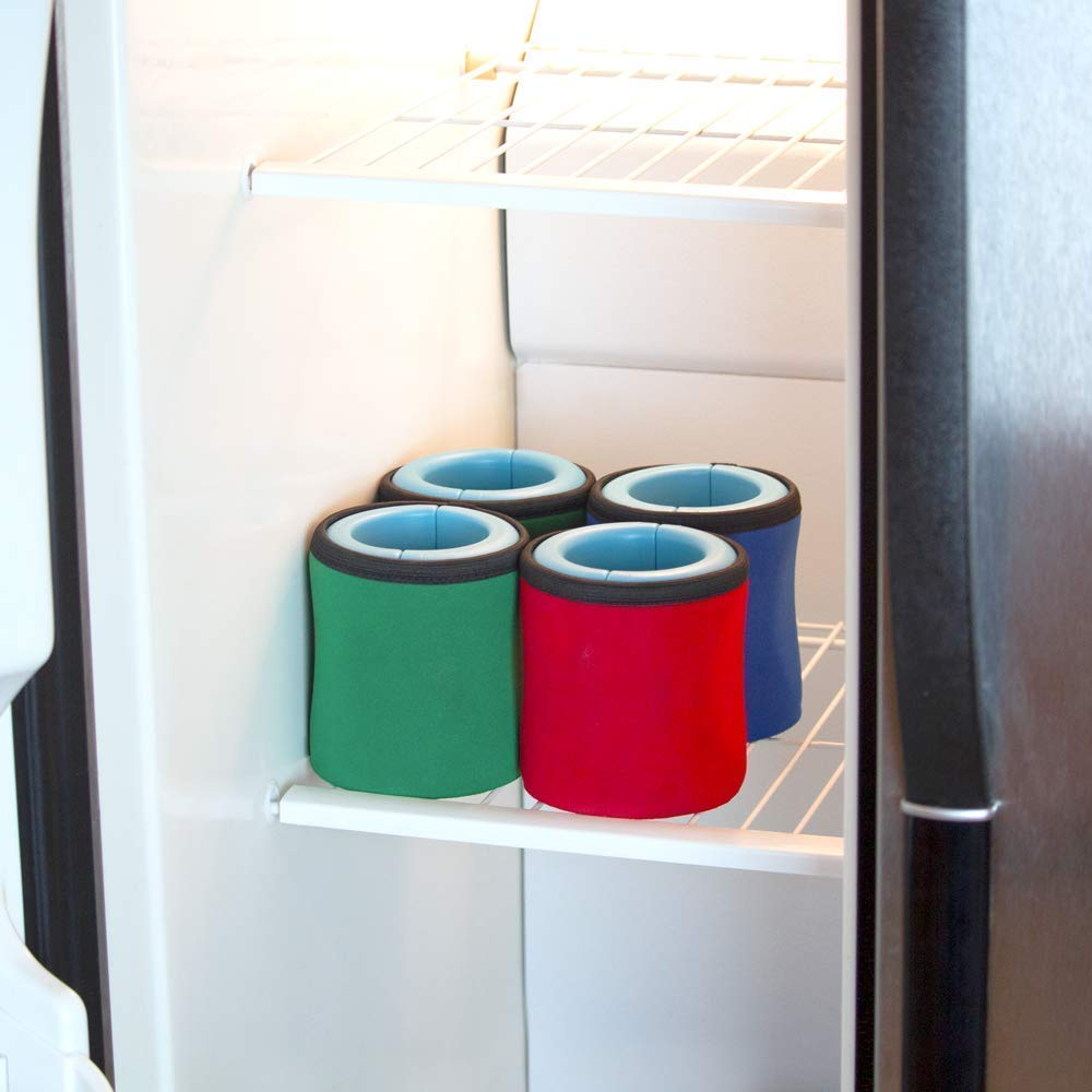 iCube - Gel-infused, Instant Beverage Chiller. 4-Pack: Red, Green, Blue, Black by ChillnJoy (Image #4)