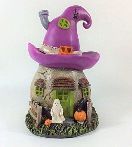 Miniature Halloween Witch - Darice Halloween Decor - Miniature Resin Fairy Garden House Asst. Designs (Witch Hat House)