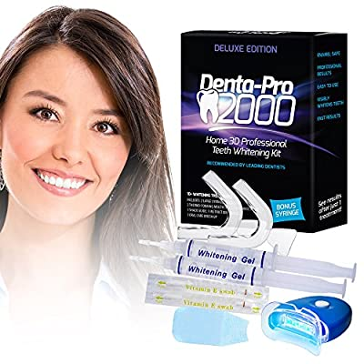 DentaPro2000 At Home 3D Premium Teeth Whitening Kit - See Results After The First Use! UPGRATED VERSION!