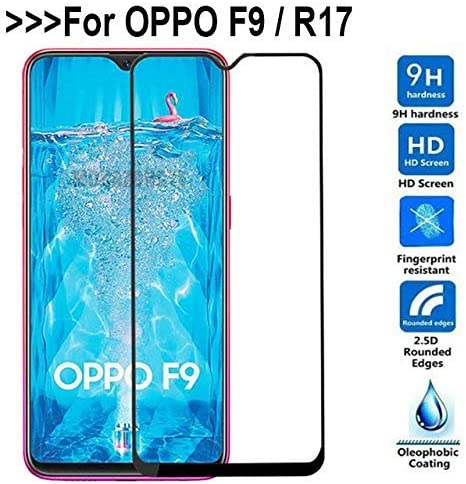 FASHIONISTA Full Glue Oppo F9 PRO Full Coverage Tempered Glass, Full  Edge-to-Edge Screen Protector-Black (Pack of 1)