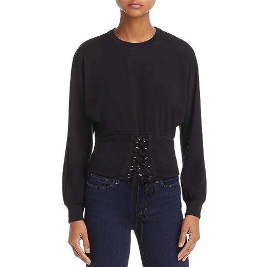 5ee794bf37 Amazon.com  Bardot Womens Mila Lace-Up Long Sleeves Corset Top  Clothing