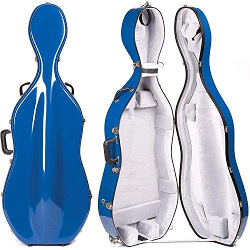 Bobelock 2000W Fiberglass Blue/Gray 4/4 Cello Case with Wheels (Bobelock Fiberglass Violin Case)