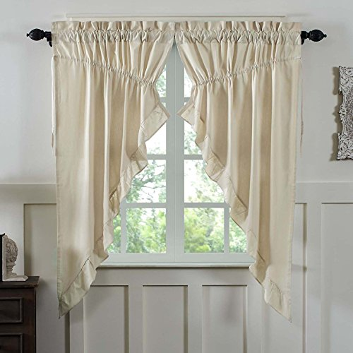 ural Prairie Curtain, Gathered Swag, 63x36x18, Farmhouse Style (Classic Swag)