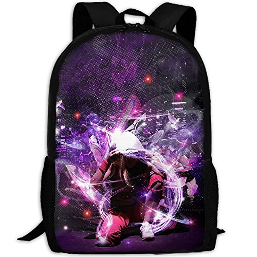 Webb Backpack Laptop Travel Hiking School Shoulder Bag Hip Hop Dance Daypacks by Webb