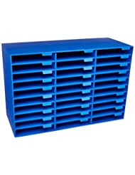 Pacon Classroom Keepers 30-Slot Mailbox, Blue (001318)