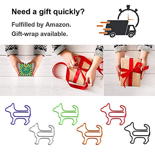 Paper Clips, Funny Dog Shape Paperclips for Office Supplier School Student, Secret Santa Gifts, Gag Gifts for Coworkers and Teacher Gifts.(60 pcs) Photo #3