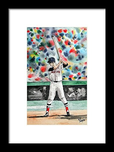 Edition Print Open Sports (Carl Yastrzemski, Watercolor Print, Boston Red Sox Painting, Watercolor Print ORIGINAL - Open Edition Carl Yastrzemski, Yaz, sports)