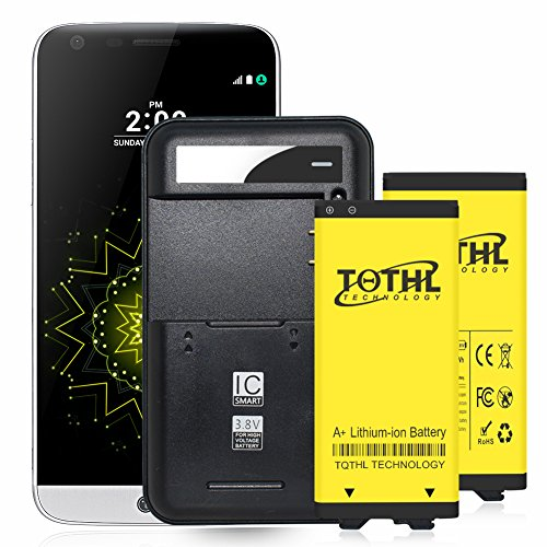 UPGRADE TQTHL 2X Phone Battery Replacement for LG G5 [3200 mAh] BL-42D1F AT&T H820 , Verizon VS987 , Sprint LS992 ,T-Mobile H830 ,US Cellular US992 with G5 Spare Battery Charger Cradle