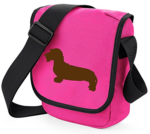 Shoulder Silhouette Sausage Dog Bag Brown of Dachshund Reporter Choice Hound Bag Pink Wire Dachshund Haired Bag Wirehaired Dog Dachshund Colours Bag Gift wqXAFF
