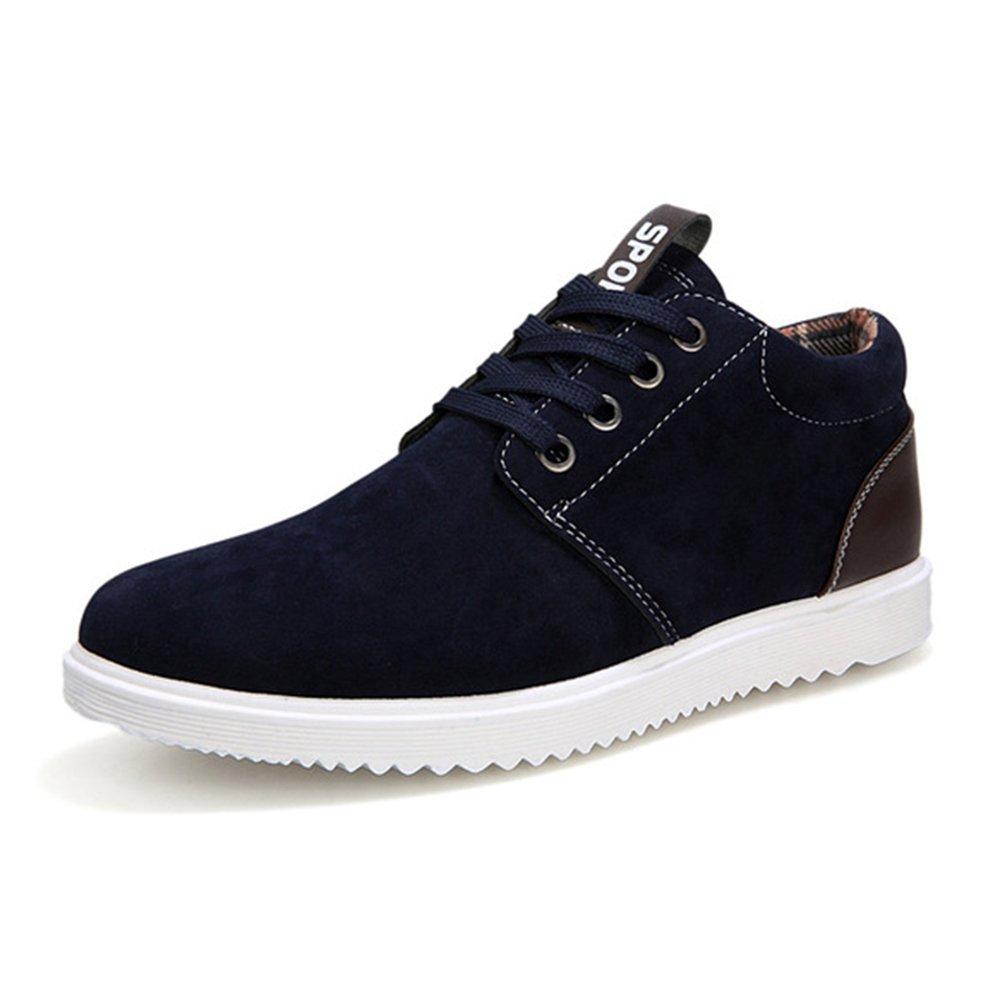 AARDIMI Herren Sneakers Fruuml;hling und Herbst Herren Freizeitschuhe Freizeit Winter Pluuml;sch Fuuml;r Mauml;nner Schuhe Plus Brish Fashion Trend  44 EU|Blau