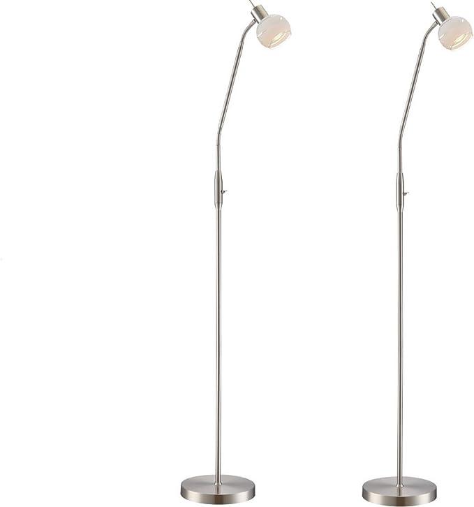 Juego de 2 lámparas de pie de LED Elliott con brazo flexible ...
