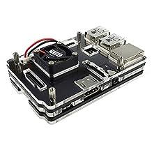 Eleduino 2016 New Version Raspberry Pi 3 Model B and Raspberry Pi 2 Model B Acrylic Case with High Quality Mini Fan