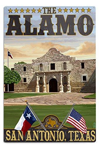 Time San Antonio Texas Usa (San Antonio, Texas - The Alamo Morning Scene (12x18 Aluminum Wall Sign, Wall Decor Ready to Hang))