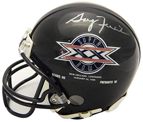 Gary Fencik Signed Chicago Bears/Super Bowl XX Champs Logo Riddell Mini ()