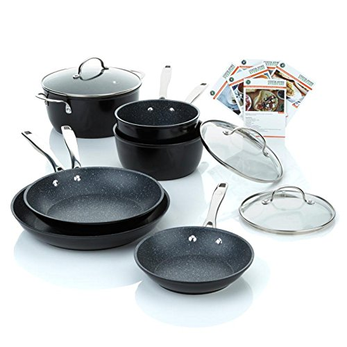 Curtis stone durapan 9 piece forged nonstick cookware set for Buy kitchen cookware