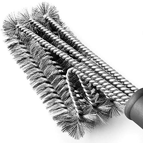 """Tarvol BBQ Grill Brush Stainless Steel 18"""" Barbecue Cleaning Brush"""
