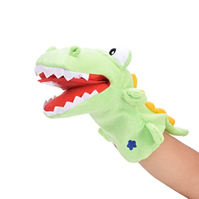 Pokerty Cute Crocodile Hand Doll Toy, Cartoon Animal Soft Hand Doll Puppet Gloves Telling Story Child Interactive Toy(28cm): Toys & Games