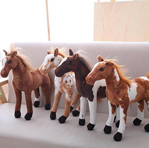 Marrone Scuro Giocattoli Peluche Adatti ai Bambini Lizes Morbido e Carino Il Cavallo Peluche Morbido 30cm Tall American Paint Horse Peluche Bambole farcito per Bambini Regalo