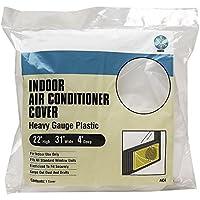 1 X Heavy Gauge Plastic Vinyl Elastic Indoor Window Air Conditioner Cover, 22 x 31 x 4