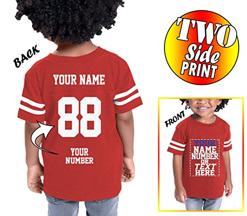 Tee Miracle Custom Cotton Jerseys For Toddlers and Kids - Make Your Own Jersey T Shirts - Personalized Team Uniforms For Casual - Australia Custom