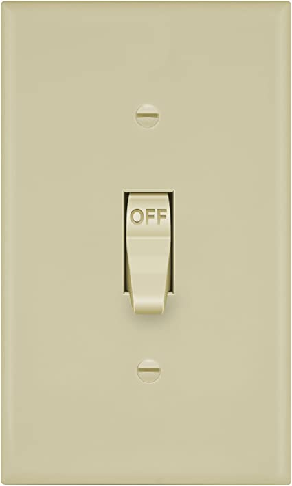 Enerlites 8811 I Toggle Light Switch Wall Plate Ivory 1 Gang Amazon Ca Industrial Scientific