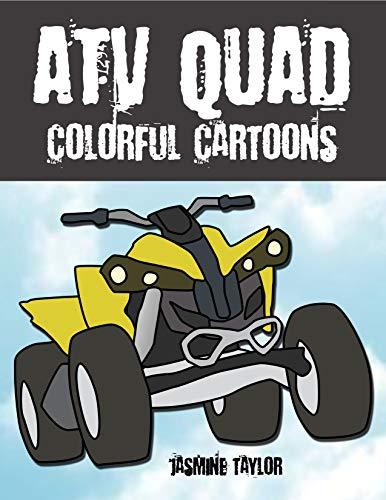 ATV Quad Colorful Cartoon Illustrations por Jasmine Taylor