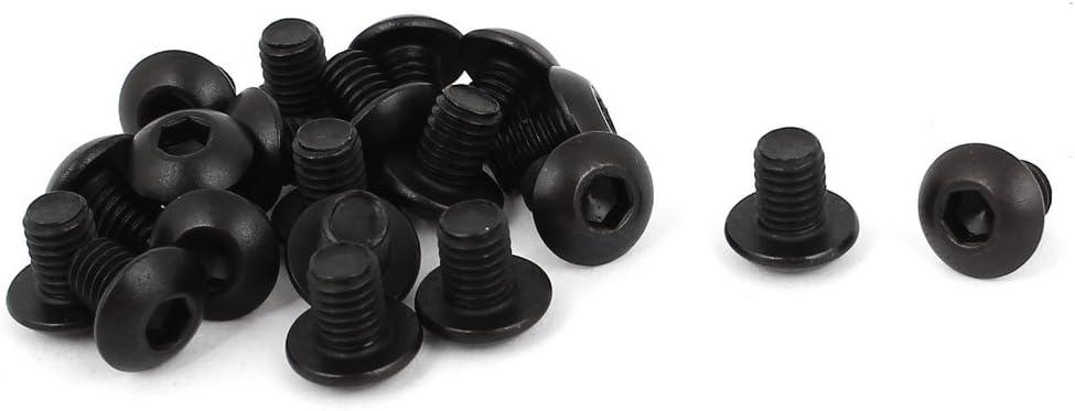 """Qty 10 Button Head Socket 6-32 UNC x 1//4/"""" Plain Screw 10.9 Grade BSW Black"""