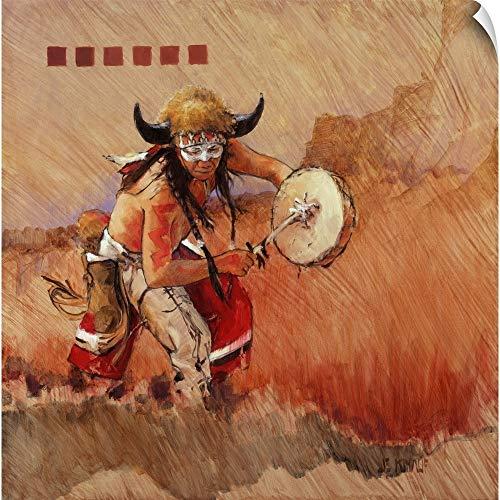 Canvas on Demand J.E. Knauf Wall Peel Wall Art Print Entitled Buffalo Dance 20