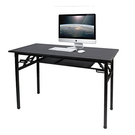 sogesfurniture Mesa Escritorio Plegable, 120x60 cm Mesa de Ordenador Escritorio de Oficina Mesa de Estudio Mesa de Comedor Plegable para Hogar ...
