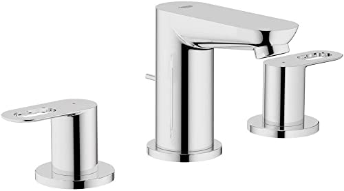 Grohe 20225000 BauLoop Widespread Two-Handle Bathroom Faucet, 1.5 GPM, Starlight Chrome