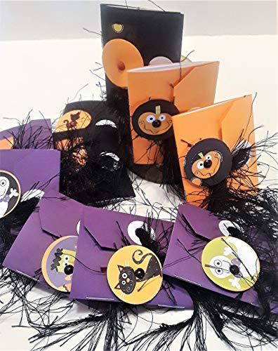 Fuzzy Halloween Themed Miniature Notebook Party Favors