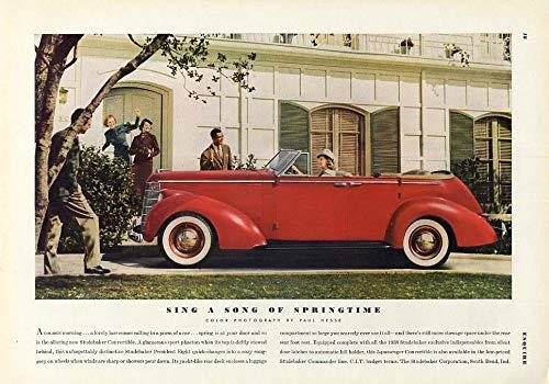 - Sing a Song of Springtime - Studebaker Convertible Sedan ad 1938 ESQ