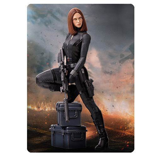 Captain America The Winter Soldier Black Widow 9-Inch Statue -