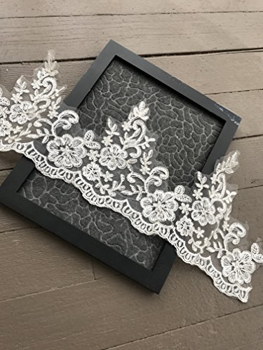 #2 White Embroidery Lace Trim Lace,DIY Sewing Craft (Two yards,7