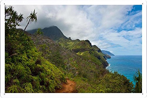 (Tin Sign Poster Start Of The Kalalau Trail (20x30cm) By Nature Scene Painting)