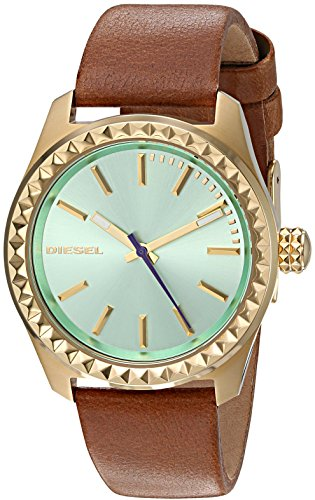 Diesel Women's 'Kray Kray' Quartz Stainless Steel and Leather Automatic Watch, Color:Brown (Model: DZ5511)
