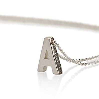 Amazon initial necklace sterling silver personalized initial initial necklace sterling silver personalized initial necklace letter necklace choose any initial 14 inches aloadofball Gallery