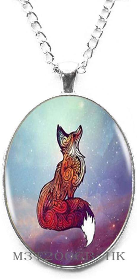 Fox Pendant Choker Necklace Red Fox-MT307 Botewo0lbei Fox Necklace Fox Jewelry Woodland Creature
