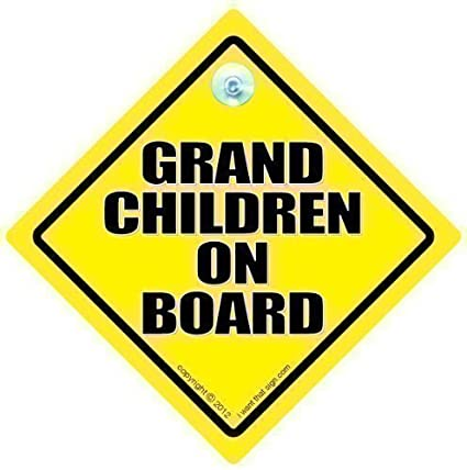 Grandchild On Board GRANDCHILDREN On Board Car Sign Baby On Board Car Sign,