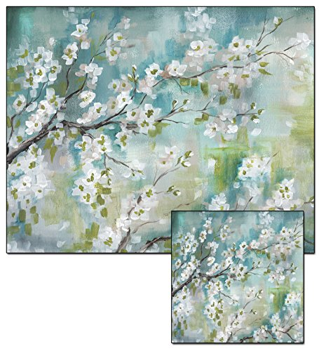 (CounterArt Cherry Blossom Glass Cutting Board and Trivet)