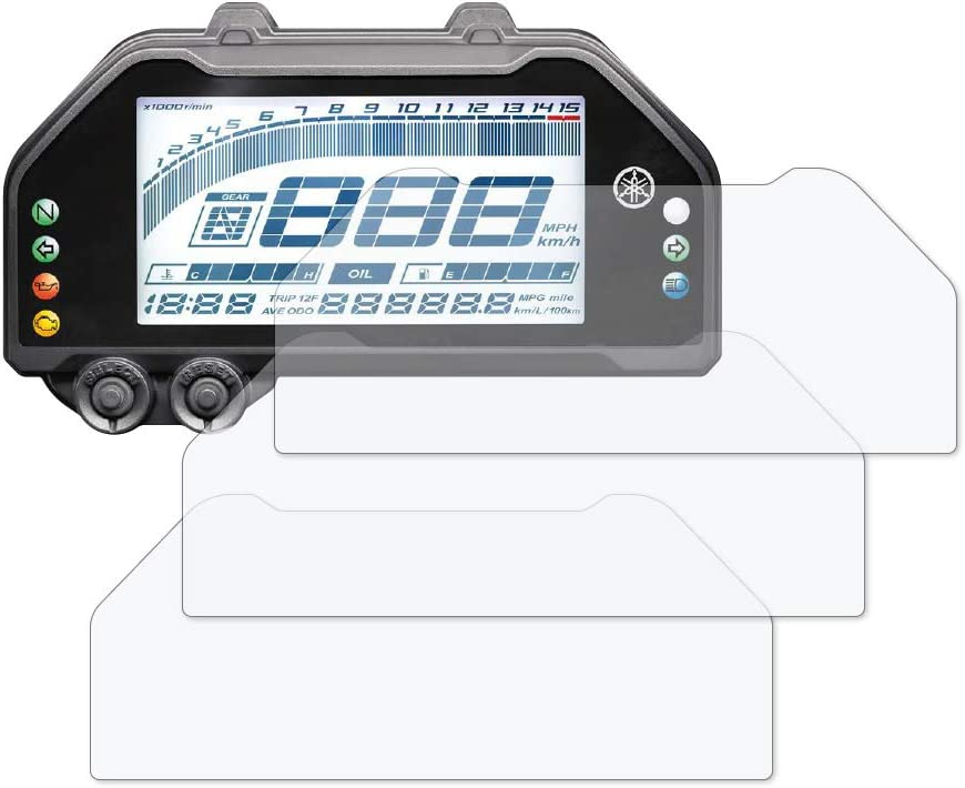 3 x Ultra Clear Speedo Angels SAYA243UC Dashboard Screen Protector for Yamaha R3// R25 2019+