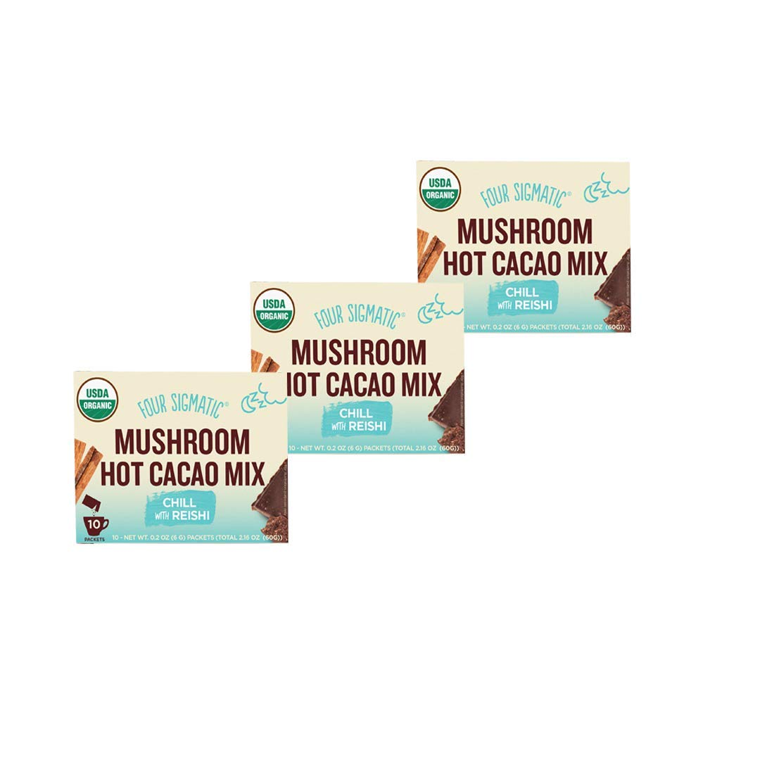 Four Sigmatic Mushroom Hot Cacao Mix with Reishi (3 Packs) by Four Sigmatic