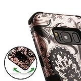 MyBat Cell Phone Case for SAMSUNG Galaxy S8 - Phoenix Flower (2D Rose Gold)/Black
