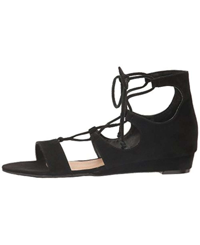Frauen Offener Zeh Leger Sandalen Mit Keilabsatz Keilabsatz Keilabsatz schwarz bceda8