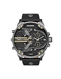 Diesel Men's DZ7348 Mr Daddy 2.0 Gunmetal Black Leather Watch