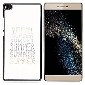 /Skull Market/ - Summer Text Minimalist White Sun Surf For HUAWEI P8 - Mano cubierta de la caja pintada de encargo de lujo -