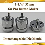 Asc365 32mm 1-1/4'' Interchangeable Die Mould for Pro N3 N4 Badge Button Maker(item#015331)