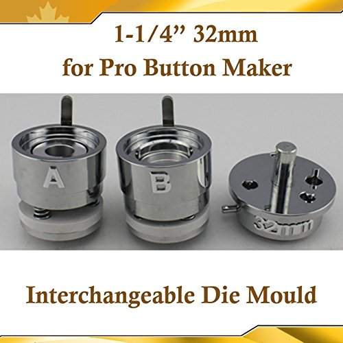 Asc365 32mm 1-1/4'' Interchangeable Die Mould for Pro N3 N4 Badge Button Maker(item#015331) by Button Maker