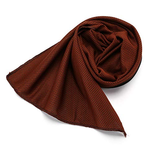 Zzrp The Cold Towel is Suitable for Sports Fitness Yoga Travel Camping Etc Outdoor Sports Towel to Keep Cool for All Activities Cooling Heatstroke Ice Towel Instant Cooling Relief,Brown