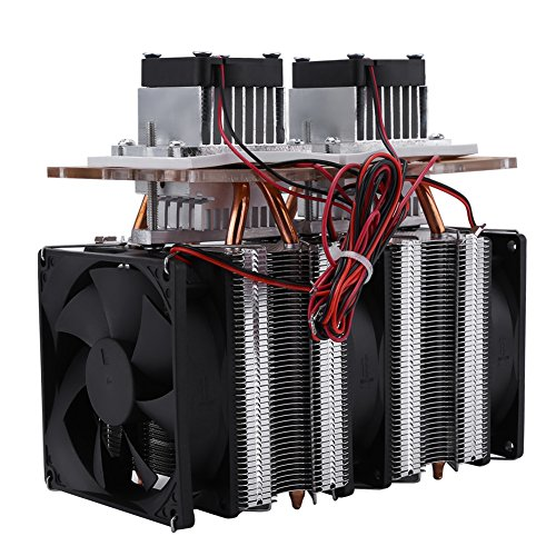 Dual-core Semiconductor Refrigeration Thermoelectric Peltier Air Cooling Dehumidification Equipment DIY Kit 144W